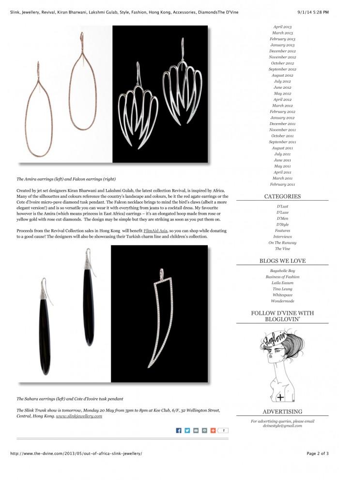 Slink, Jewellery, Revival, Kiran Bharwani, Lakshmi Gulab, Style,